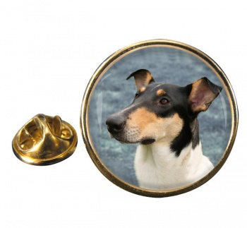 Smooth Collie Round Pin Badge