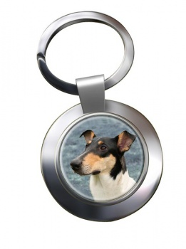 Smooth Collie Metal Key Ring
