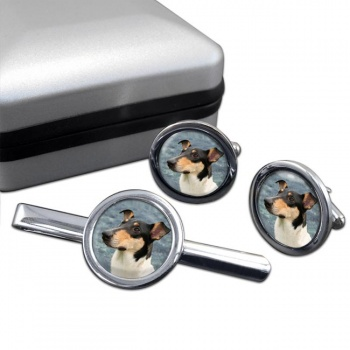 Smooth Collie  Cufflink and Tie Clip Set