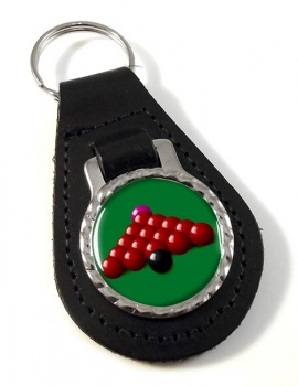 Snooker Leather Key Fob