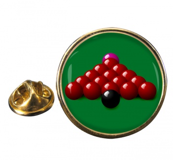 Snooker Round Pin Badge