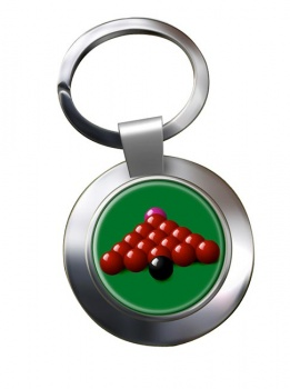 Snooker Chrome Key Ring