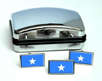 Somalia Flag Cufflink and Tie Pin Set
