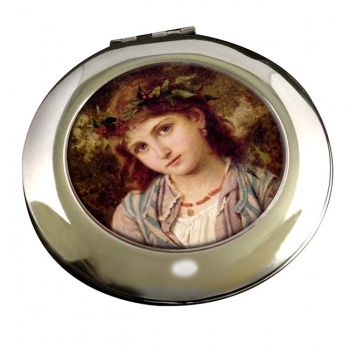 An Autumn Princess by Sophie Anderson Round Mirror