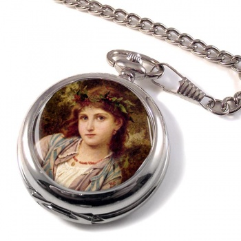 An Autumn Princess by Sophie Anderson Pocket Watch