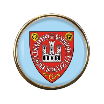 Sopron Round Pin Badge