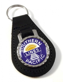Southern Pacific Leather Keyfob