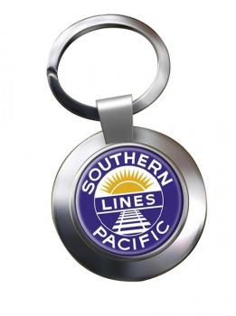 Southern Pacific Chrome Key Ring