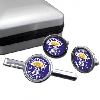 Southern Pacific Cufflink and Tie Clip Set