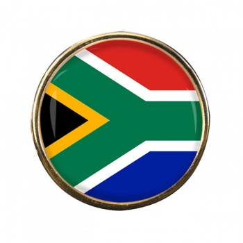 South Africa Round Pin Badge