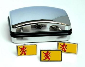 Zuid-Holland (Netherlands) Flag Cufflink and Tie Pin Set