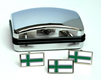 South Island (New Zealand) Flag Cufflink and Tie Pin Set