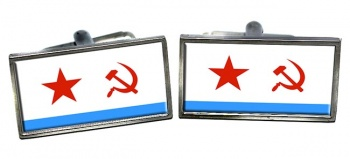 Soviet Navy Rectangle Cufflinks