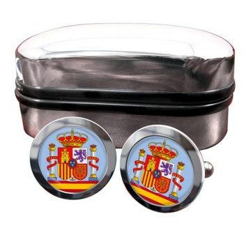 Coat of Arms Escudo de Espana (Spain) Crest Cufflinks