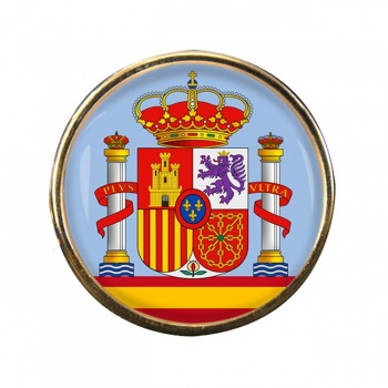 Coat of Arms Escudo de Espana (Spain) Round Pin Badge