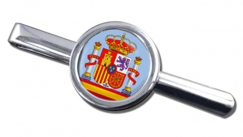 Coat of Arms Escudo de Espana (Spain) Round Tie Clip
