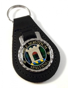Spalding Scottish Clan Leather Key Fob