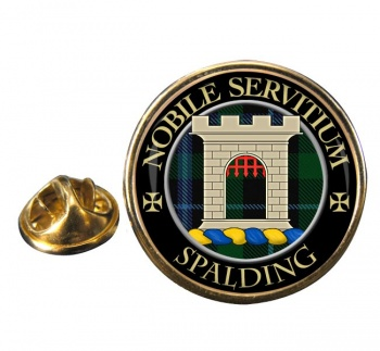 Spalding Scottish Clan Round Pin Badge