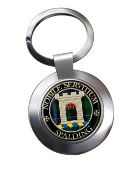 Spalding Scottish Clan Chrome Key Ring