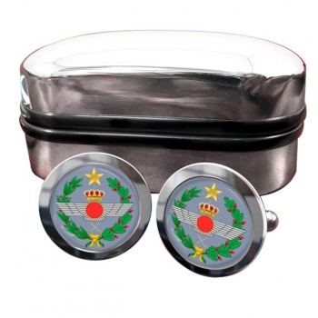 Spanish Air Force (Ejército del Aire) Round Cufflinks