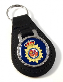 Cuerpo Nacional de Polici�a Leather Key Fob