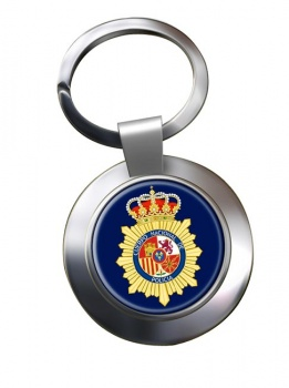 Cuerpo Nacional de Polici�a Chrome Key Ring