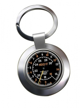 Spitfire Altometer Chrome Key Ring