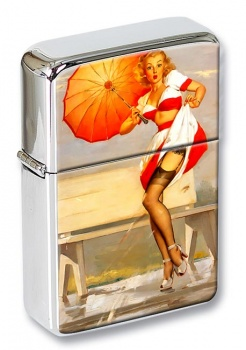 I've Been Spotted Pin-up Girl Flip Top Lighter