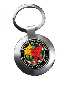 Spottiswood Scottish Clan Chrome Key Ring