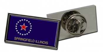 Springfield IL  Flag Pin Badge