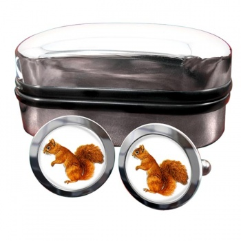 Squirrel  Round Cufflinks