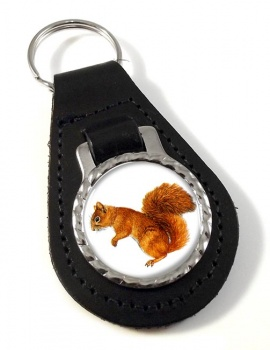 Squirrel Leather Key Fob