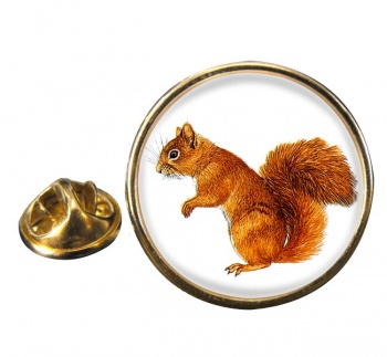 Squirrel Round Pin Badge