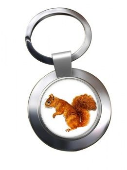 Squirrel Metal Key Ring