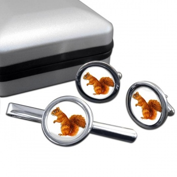 Squirrel  Cufflink and Tie Clip Set