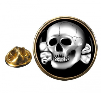 SS-Totenkopfverbände Round Pin Badge