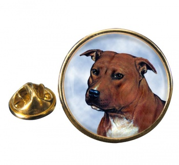 Staffordshire Bull Terrier Round Pin Badge