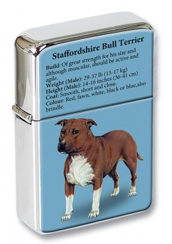 Staffordshire Bull Terrier Flip Top Lighter
