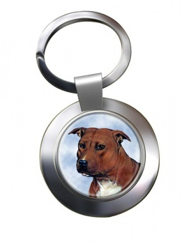 Staffordshire Bull Terrier Metal Key Ring