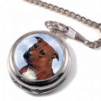 Staffordshire Bull Terrier Pocket Watch
