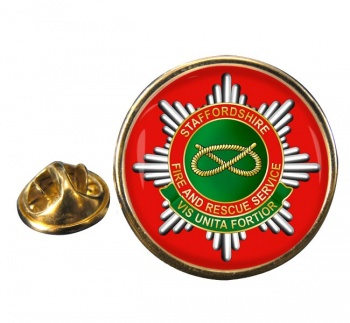 Staffordshire Fire and Rescue Round Pin Badge