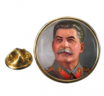 Joseph Stalin Round Pin Badge