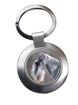 Standard Schnauzer Metal Key Ring
