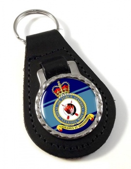 RAF Station Staxton Wold Leather Key Fob