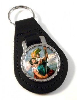 St. Christopher Leather Keyfob