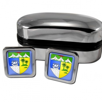 Saint-Denis Reunion France Square Cufflinks