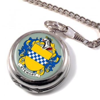 Stewart Coat of Arms Pocket Watch