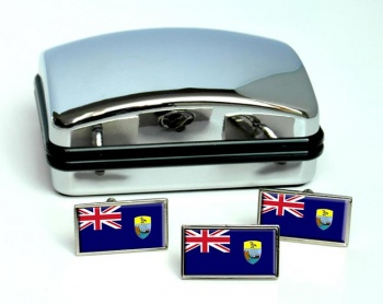 Saint Helena Flag Cufflink and Tie Pin Set