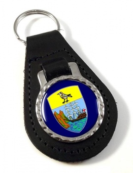 Saint Helena Leather Key Fob