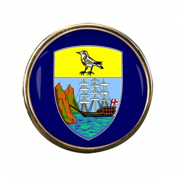 Saint Helena Round Pin Badge